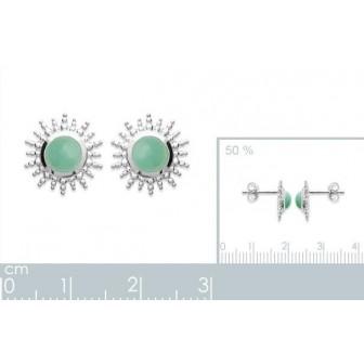 Boucles d'oreilles argent rhodié 925/000 Aventurine 1562150