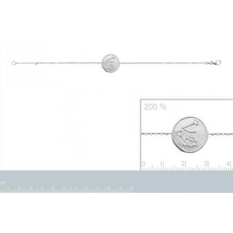Bracelet argent rhodié 925/000 oz Verseau 873153