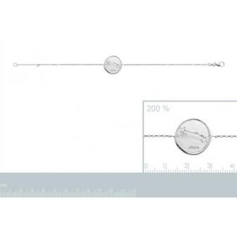 Bracelet argent rhodié 925/000 oz Bélier 873155