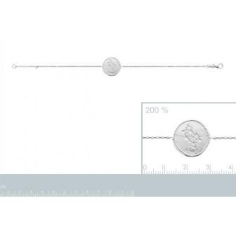 Bracelet argent rhodié 925/000 oz Gémeaux 873157