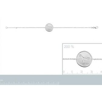 Bracelet argent rhodié 925/000 oz Cancer 873158
