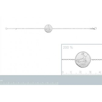Bracelet argent rhodié 925/000 oz Vierge 873160