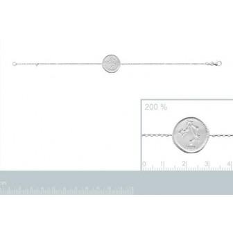 Bracelet argent rhodié 925/000 oz Balance 873161