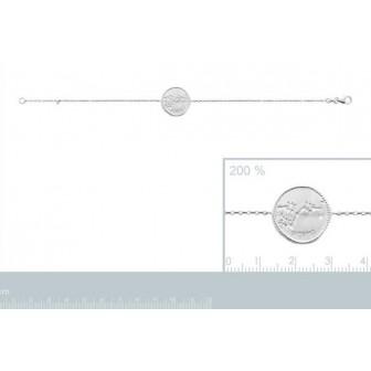 Bracelet argent rhodié 925/000 oz Scorpion 873162