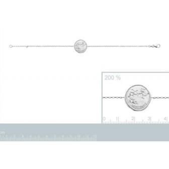 Bracelet argent rhodié 925/000 oz Sagittaire 873163
