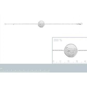 Bracelet argent rhodié 925/000 oz Capricorne 873164
