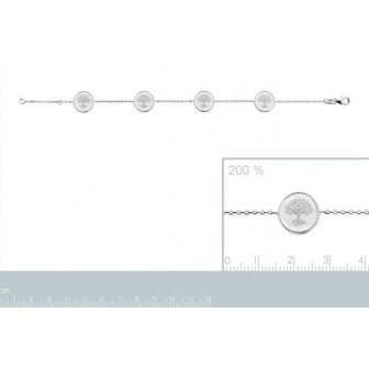 Bracelet argent rhodié 925/000 oz Arbre de vie 721669