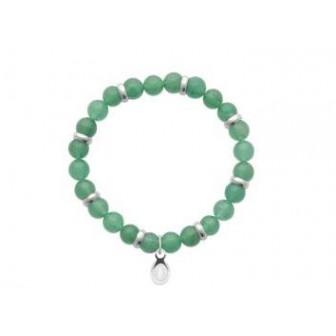 Bracelet acier 316 L Quartz vert 312012