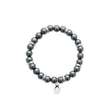 Bracelet acier 316 L et pierre naturelle Hematite 312021