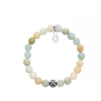 Bracelet acier 316 L pierre Amazonite 312038
