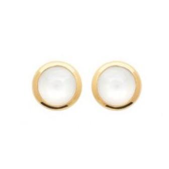 Boucles d'oreilles plaqué-or 750/000 3 microns Pierre de Lune 2565710