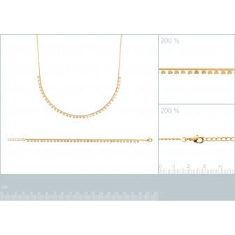 Collier plaqué-or 750/000 3 microns 29098842
