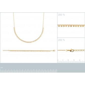 Bracelet plaqué-or 750/000 3 microns 29098818