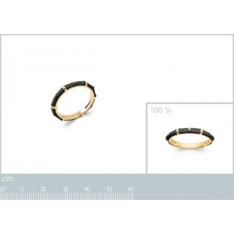 Bague plaqué-or 750/000 3 microns email 2159107