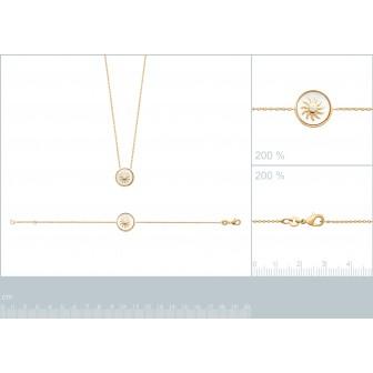 Collier plaqué-or 750/000 3 microns oz et nacre 97320945