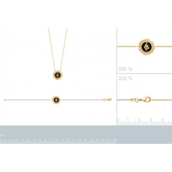 Bracelet plaqué-or 750/000 3 microns email 92171518