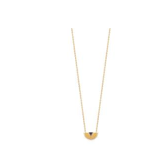 Collier plaqué-or 750/000 3 microns email 92169445