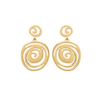 Boucles d'oreilles plaqué-or 3 microns 2570100