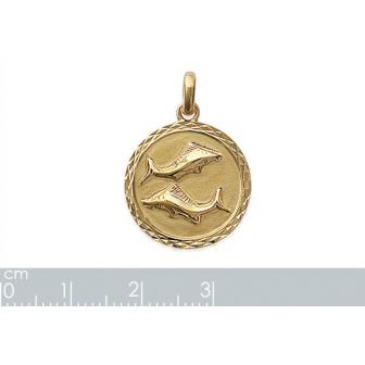Pendentif plaqué-or 750/000 3 microns horoscope 24821102