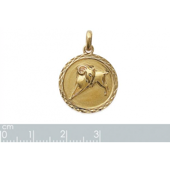 Pendentif plaqué-or 750/000 3 microns horoscope 24821103