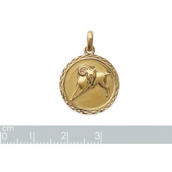Pendentif plaqué-or 750/000 3 microns horoscope 24821103