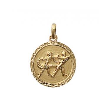 Pendentif plaqué-or 750/000 3 microns horoscope 24821105