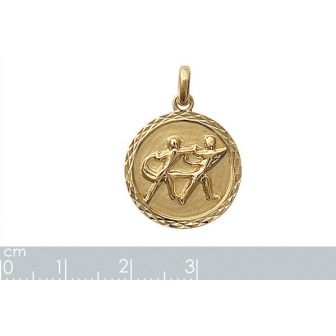 Pendentif plaqué-or 750/000 3 microns horoscope 24821105