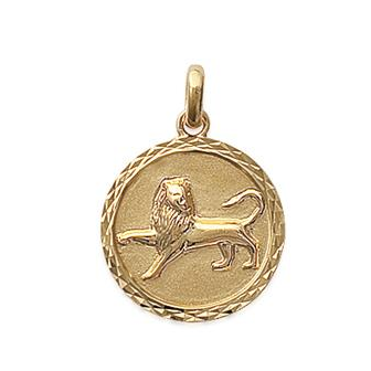Pendentif plaqué-or 750/000 3 microns horoscope 24821107