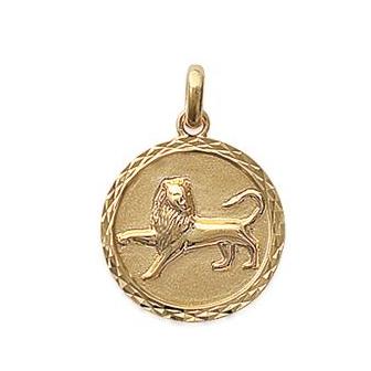 Pendentif plaqué-or 750/000 3 microns horoscope 24821107