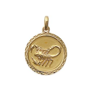 Pendentif plaqué-or 750/000 3 microns horoscope 24821110