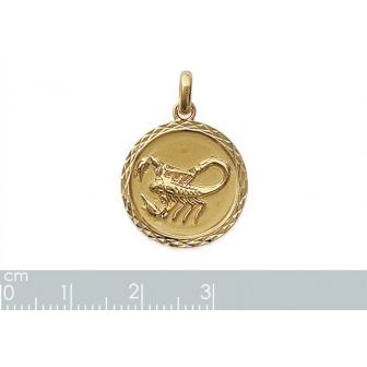 Pendentif plaqué-or 750/000 3 microns horoscope 24821110
