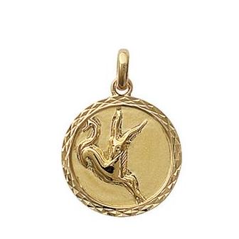 Pendentif plaqué-or 750/000 3 microns horoscope 24821112