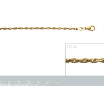 Chaîne plaqué-or 750/000 3 microns 26203545