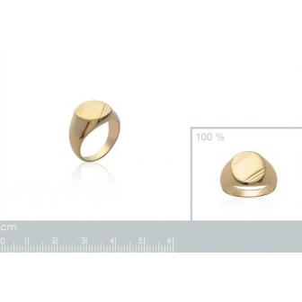 Chevalière plaqué-or 750/000 3 microns 2051247