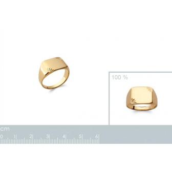 Chevalière plaqué-or 750/000 3 microns 2019200