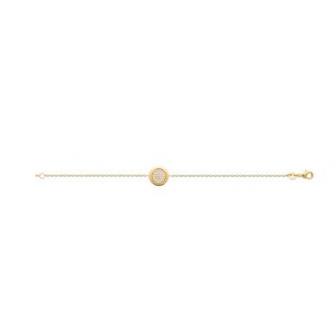 Bracelet plaqué-or 750/000 3 microns oz 97327718