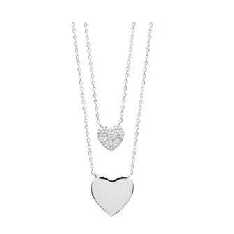 Collier argent rhodié 925/000 oz Spécial Saint Valentin 873252