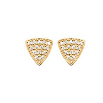 Boucles d'oreilles plaqué-or 750/000 3 microns oz 2567410