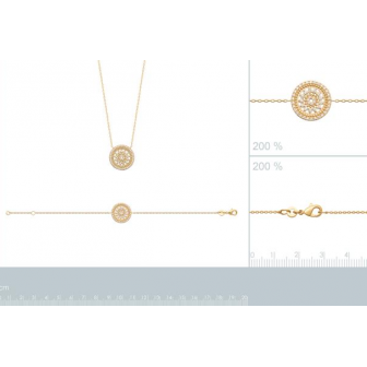 Bracelet plaqué-or 750/000 3 microns oz 97325918