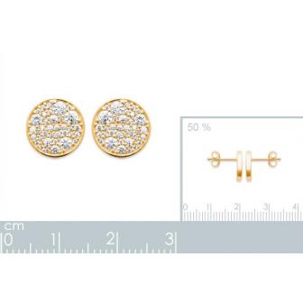 Boucles d'oreilles plaqué-or 750/000 3 microns oz 2573310