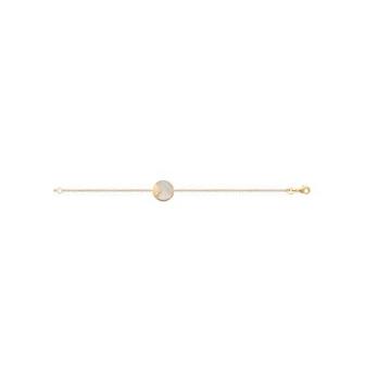 Bracelet plaqué-or 750/000 3 microns Nacre 97330418