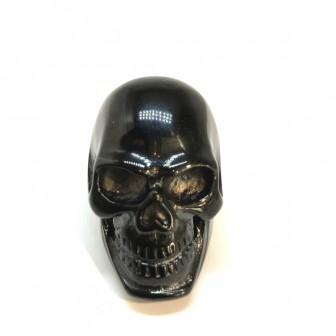 Bague acier tête de mort noir BA030