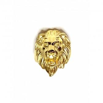 Bague acier tête de lion BA126