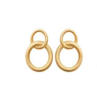 Boucle d'oreilles plaqué-or 750/000 3 microns 2581500