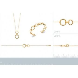 Bracelet plaqué-or 750/000 3 microns 92177318