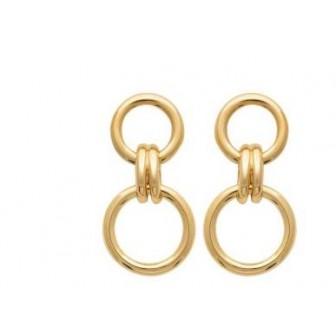 Boucles d'oreilles plaqué-or 3 microns 750/000 2583600