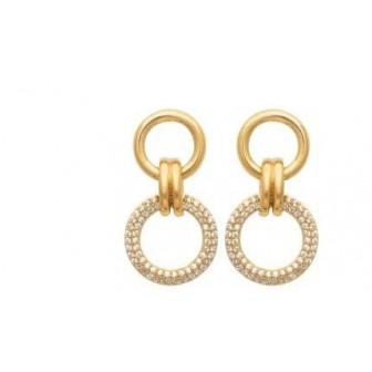 Boucles d'oreilles plaqué-or 3 microns 750/000 oz 2583710