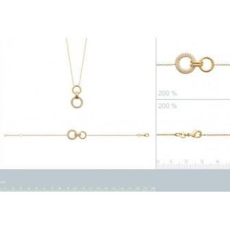 Bracelet plaqué-or 3 microns 750/000 oz 97339918