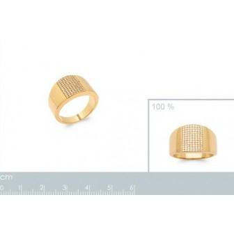 Bague plaqué-or 750/000 5 microns oz 2905810