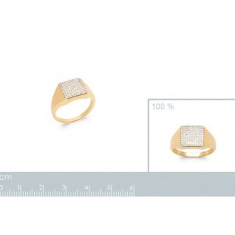 Bague plaqué-or 5 microns 750/000 oz 2907110